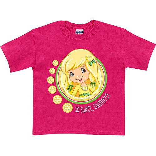 Personalized Strawberry Shortcake Sweet Lemon Meringue Toddler Hot Pink T-Shirt