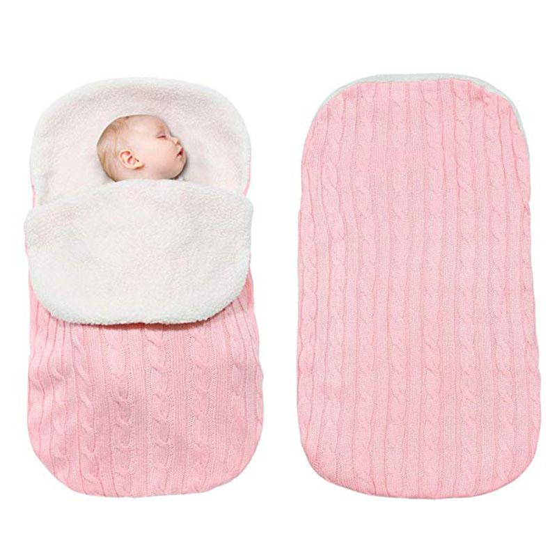 Newborn Baby Winter Warm Sleeping Bags Swaddling Stroller Wrap Blanket ♞