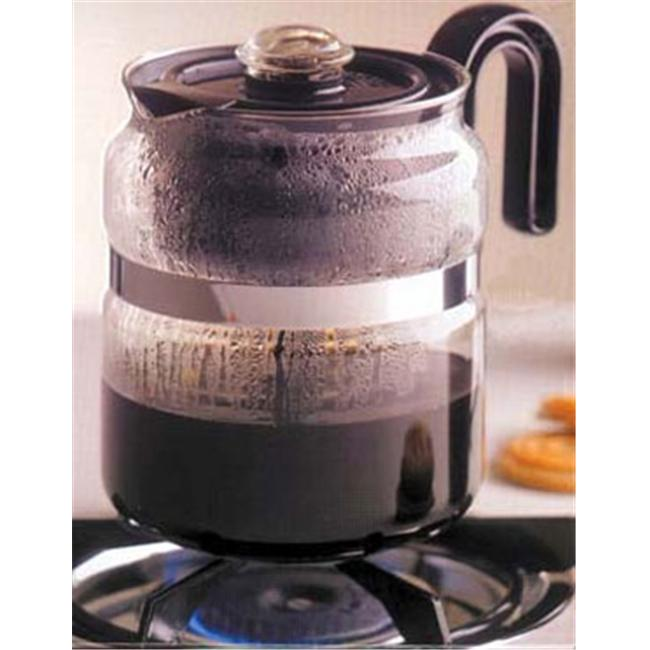 Medelco PK008 8 Cup Glass Stovetop Percolator
