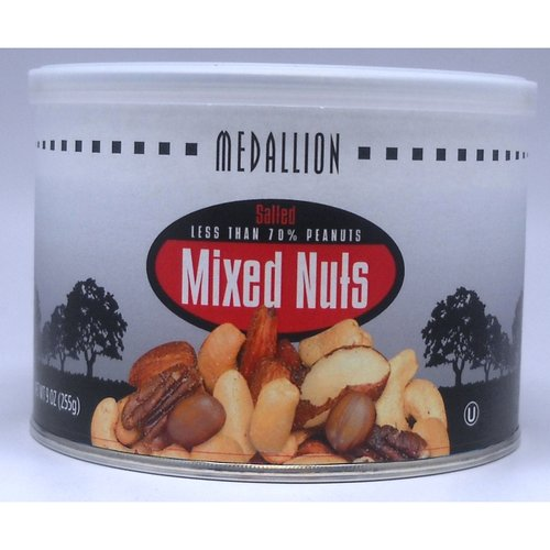 Medallion Salted Mixed Nuts, 9 oz