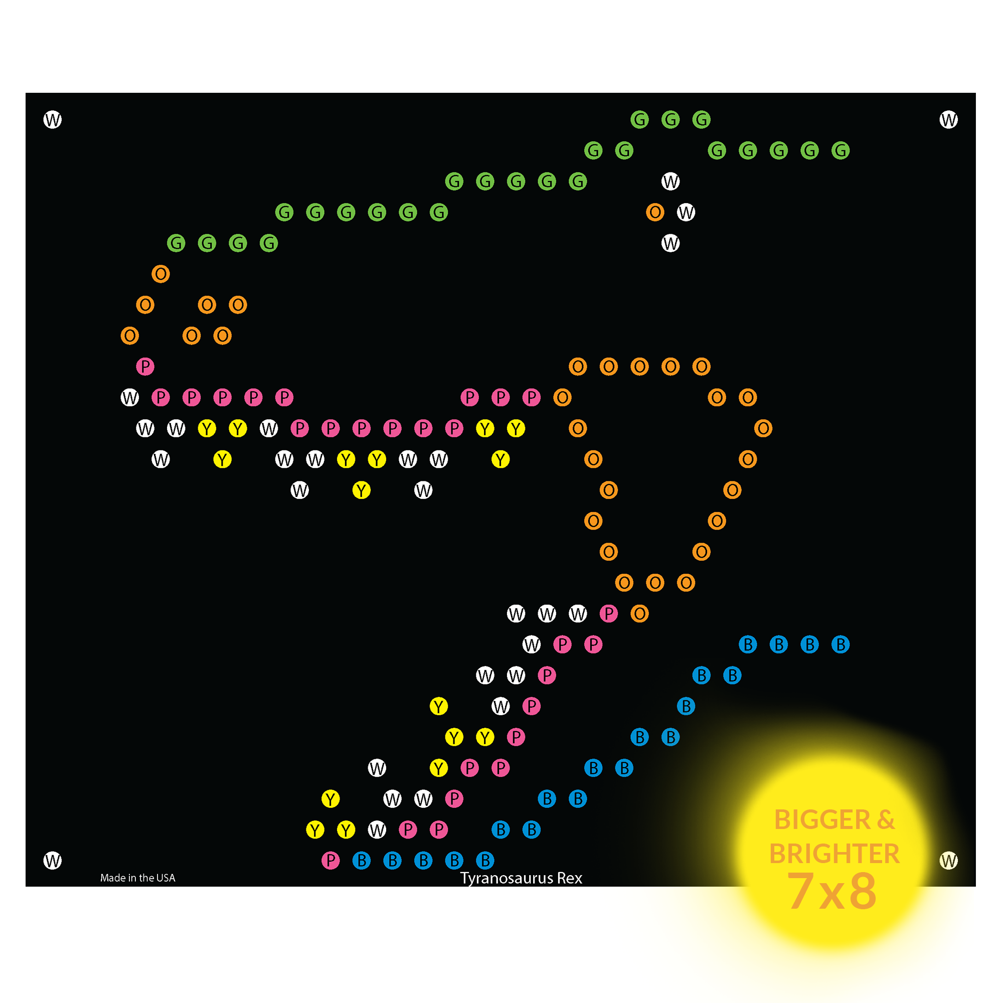Lite Brite Refill: Dinosaur for Ultimate Classic - NOT FOR OLDER LITE BRIGHT TOY