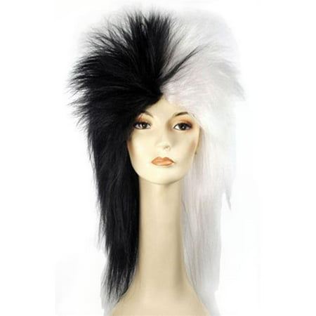 Morris Costumes LW140BW Dalmation Black White Wig Costume](Halloween Wigs Black And White)