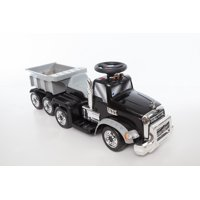 6V Deluxe Ride On Mack Truck with Trailer in Black, Battery Powered