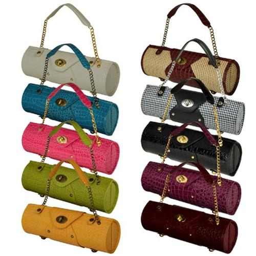 Picnic at Ascot 622-HT Wine Carrier & Purse-Houndstooth