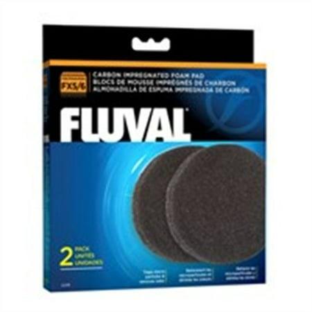 Fluval Carbon Bags - Fluval Fx5/Fx6 Carbon Foam Pad, 2pk