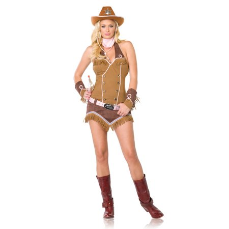 Quickdraw Cowgirl Adult Costume - Adult Cow Girl Costume