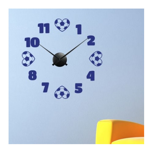 Style and Apply Soccer Wall Clock Wall Decal