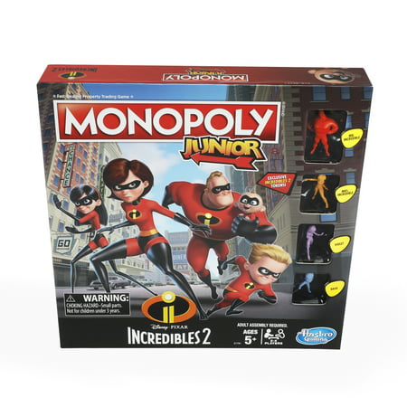 Monopoly Junior Game: Disney/Pixar Incredibles 2 Edition - Monopoly Classic Edition