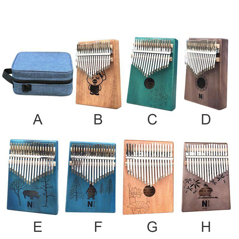 Pouch Bag 17 Keys Kalimba Thumb Piano Solid KOA Body with Manual ...