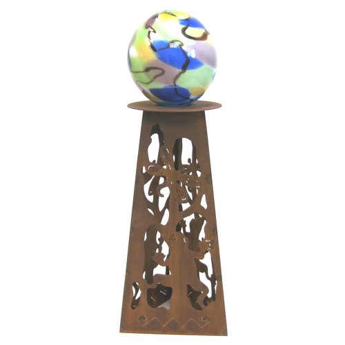 Z Garden Party Frog Gazing Ball Pedestal by