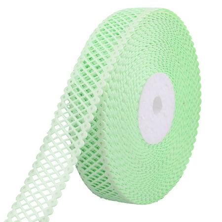Wedding Birthday Polyester Dress Gift Decor Sewing Ribbon Roll Green 20 Yards