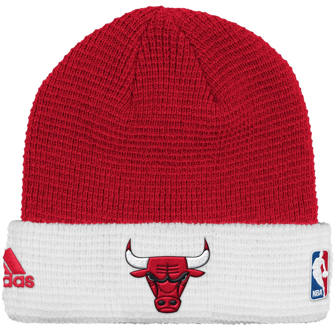 Chicago Bulls Adidas NBA 2015 Authentic Team Cuffed Knit Hat by Adidas