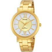 Pulsar Womens Analog Stainless Watch - Gold Bracelet - Silver Dial - PG2002X