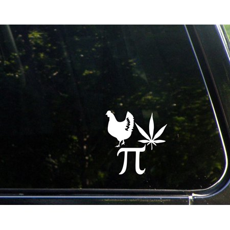 Chicken pot pie 4 x 4 vinyl die cut decal bumper
