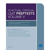 10 Actual, Official LSAT Preptests Volume V : (preptests 62-71)
