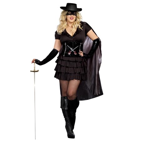 Full Figure Black Stretch Zorro Assassin Costume