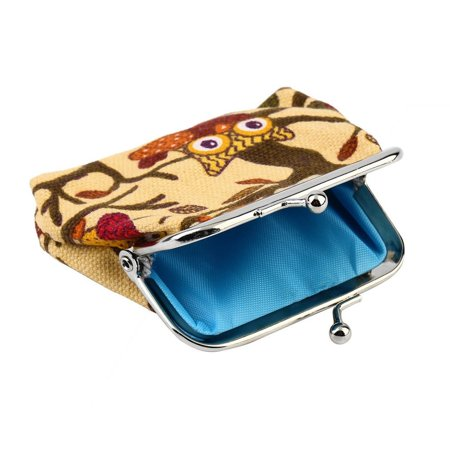 Multi-color Owl Design Coin Money Bag Purse Wallet Canvas For Women Girl Lady - image 5 of 8