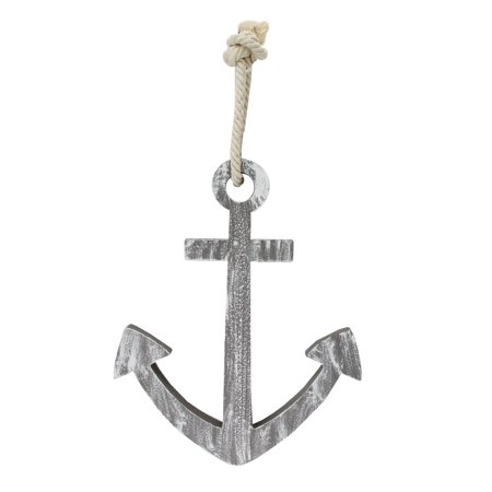 """12"""" Gray Cape Cod Inspired Wall Hanging Anchor"""