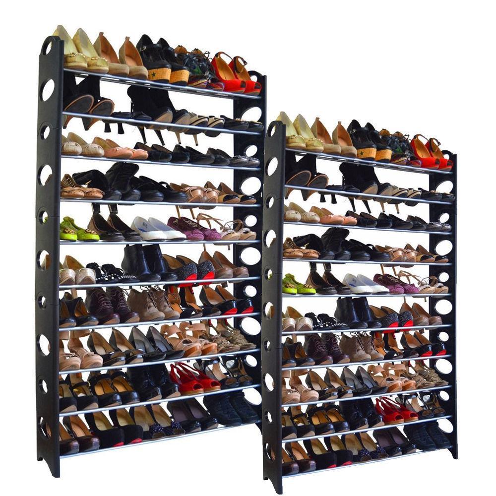 Ktaxon 20-Tier Shoe Rack 100 Pair Wall Bench Shelf Closet Organizer Storage Box Stand