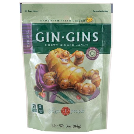 - The Ginger People, Gin·Gins, Chewy Ginger Candy, Original, 3 oz(pack of 12)