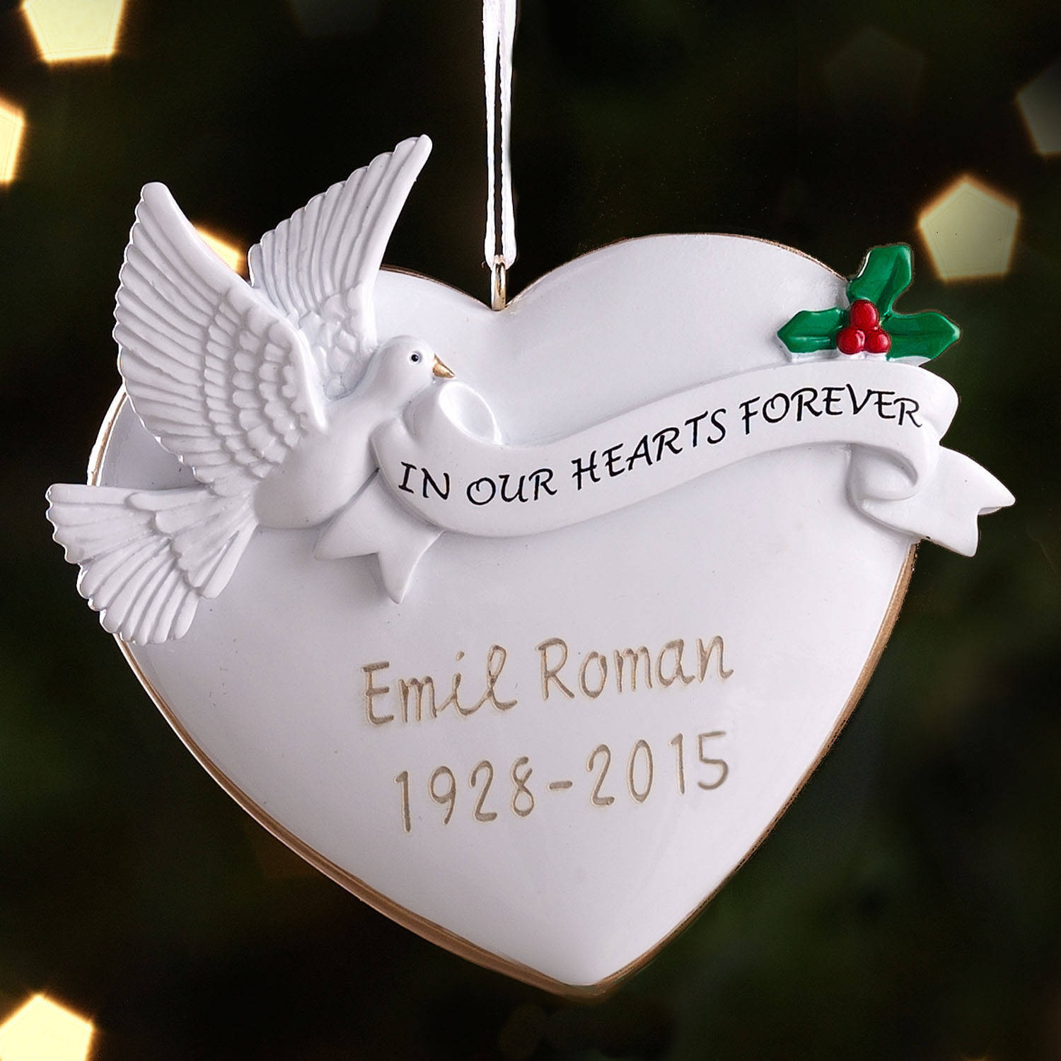 Personalized Memorial Christmas Ornament - Walmart.com