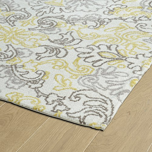 Kaleen Rugs Cozy Toes Collection CTC09-01 Ivory Machine Tufted Rug, 9' x 12'