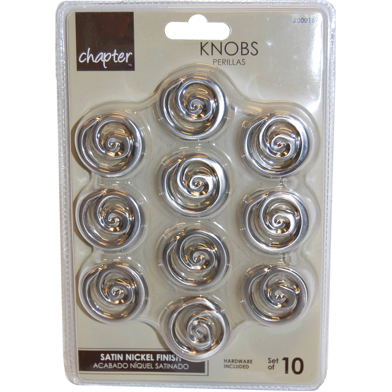 Chapter Cabinet Knob, 10-Pack, Satin Nickel