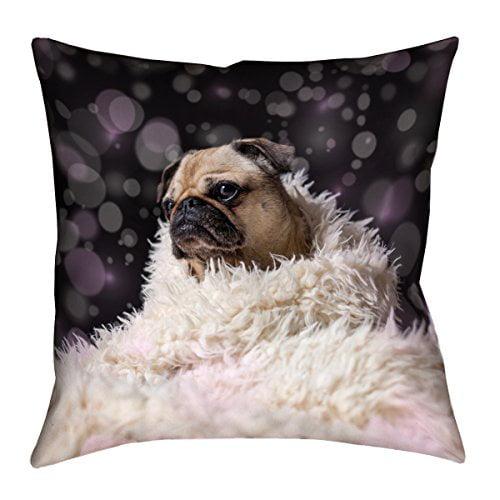 ArtVerse Katelyn Smith 18 x 18 Indoor//Outdoor UV Properties-Waterproof and Mildew Proof Wyoming Canvas Pillow