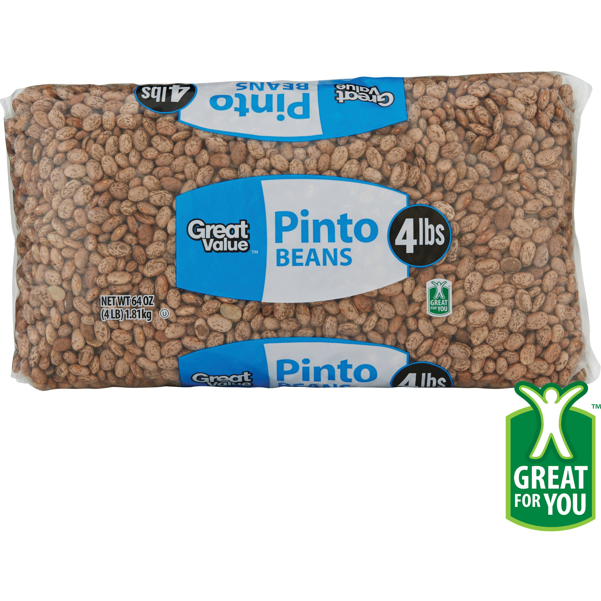 Great Value Pinto Beans, 64 oz