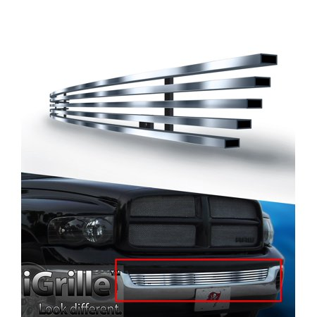 304 Stainless Steel Billet Grille Fits 2002-2008 Dodge Ram W/O Tow Hook Bumper