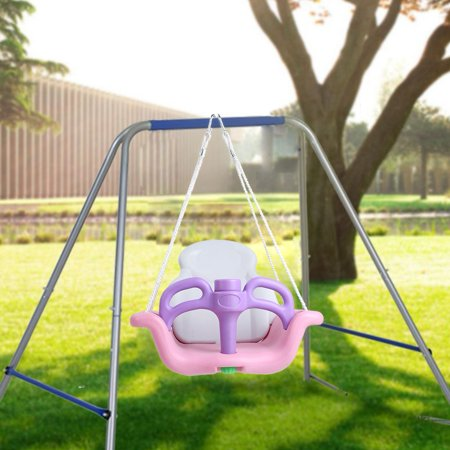 Toddler Swing Set Baby Swing Seat for Outdoor Play Patio Garden, Toddler Swing Set, Baby Swing ()
