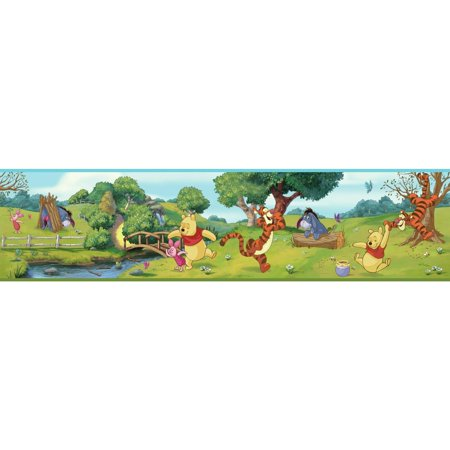Disney Kids III Swinging Pooh Border