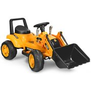 Gymax Kids Ride On Excavator Digger 6V Battery Powered Tractor w/Digging Bucket Yellow