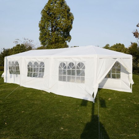 Costway 10u0027x30u0027Heavy duty Gazebo Canopy Outdoor Party Wedding Tent & Costway 10u0027x30u0027Heavy duty Gazebo Canopy Outdoor Party Wedding Tent ...