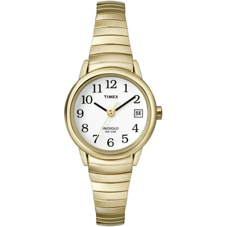 Women's Easy Reader Watch, Gold-Tone Stainless Steel Expansion (Rover Stainless Steel Watch)