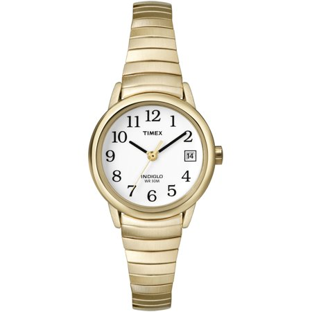 Women's Easy Reader Watch, Gold-Tone Stainless Steel Expansion Band ()