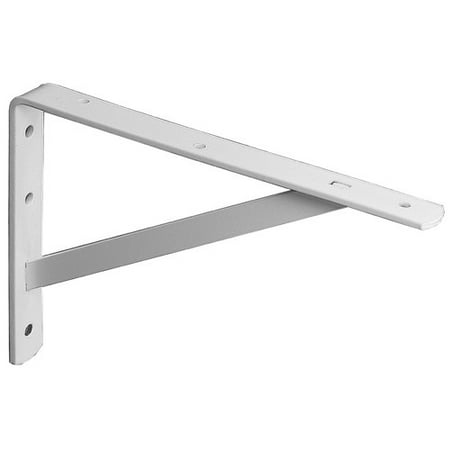 "Knape and Vogt 208WH500 20"" White Heavy Duty Shelf Bracket, 1-Pack"