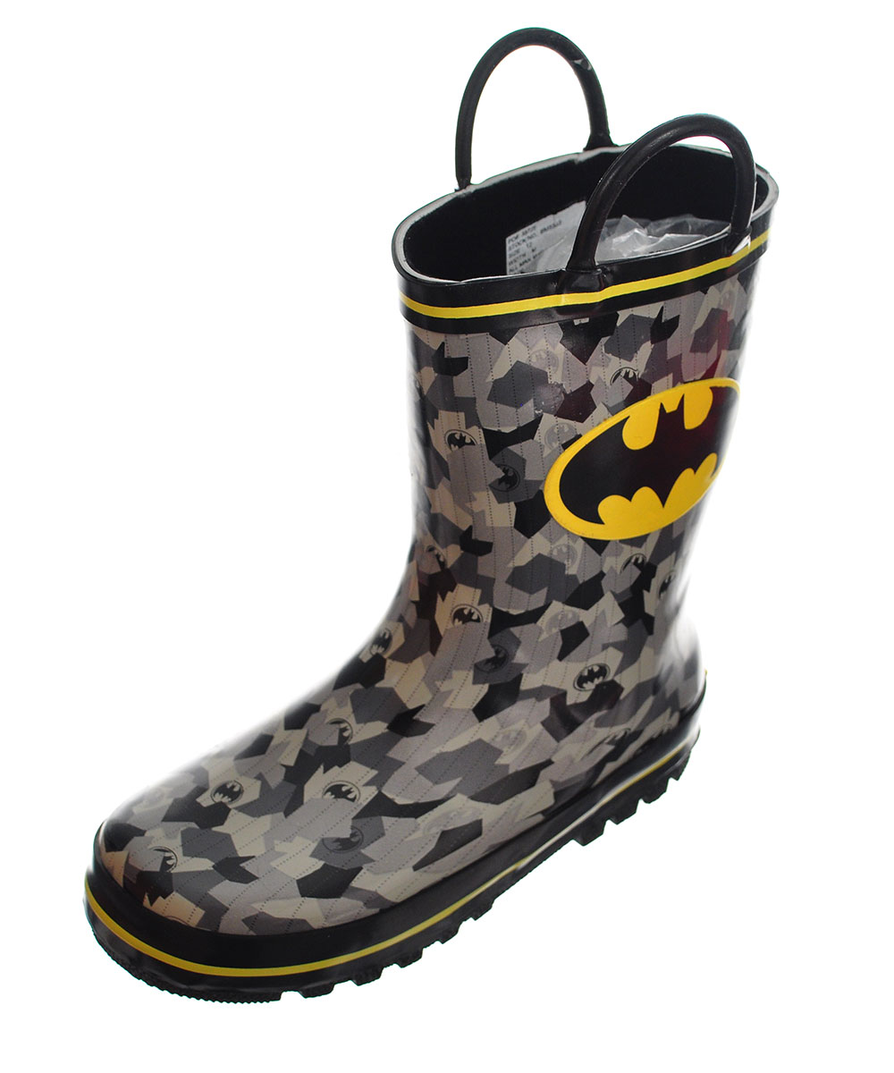Batman Boys' Rubber Rain Boots (Sizes 7 - 12)