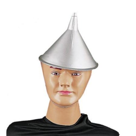 MyPartyshirt Wizard Of Oz Tin Man Funnel Hat - Make Your Own Wizard Hat