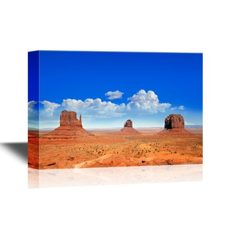 Monument Valley Halloween (wall26 - USA Landmarks Canvas Wall Art - The Famous Buttes of Monument Valley, Utah, USA - Gallery Wrap Modern Home Decor | Ready to Hang - 32x48)