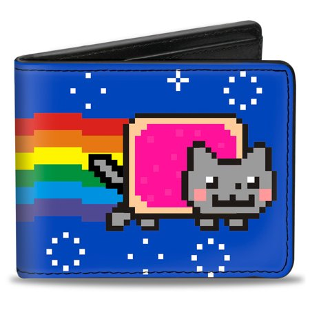 Nyan Cat Youtube Video Meme Purple Pop Tart Bi Fold Wallet