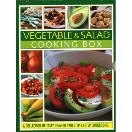 Vegetable & Salad Cooking Box: A Collection of Tasty Ideas in Two Step-By-Step Cookbooks (Hardcover) ()