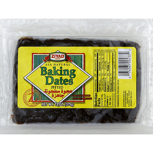 Ziyad Pitted Baking Dates, 13 oz, (Pack of 6)