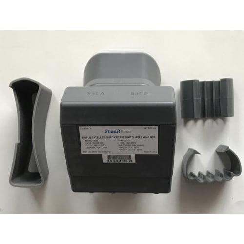 Shaw Direct Triple Satellite Quad Output Switchable xKu LNBF for 75cm Dish - image 3 of 3
