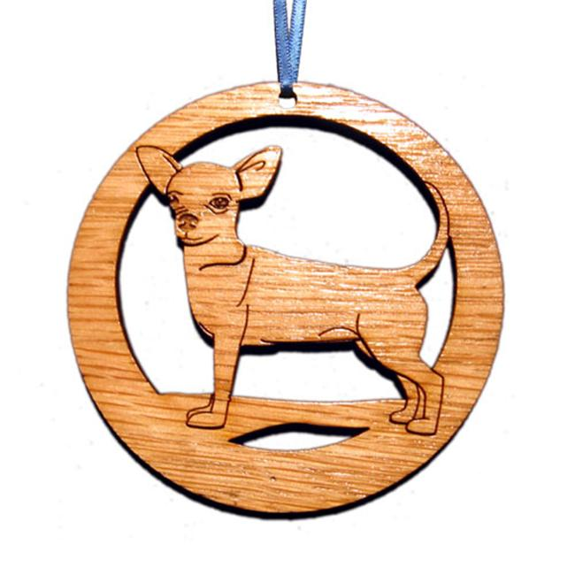 CAMIC designs DOG003N Laser-Etched Chihuahua Dog Ornaments - Set of 6