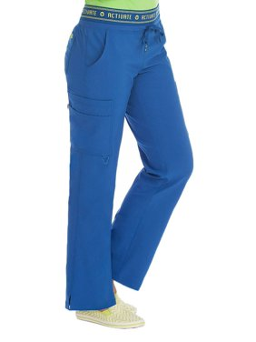 "Activate by Med Couture Women's 8758 ""Flow"" Elastic Waist Cargo Scrub Pant- Royal Blue- X-Large Petite"