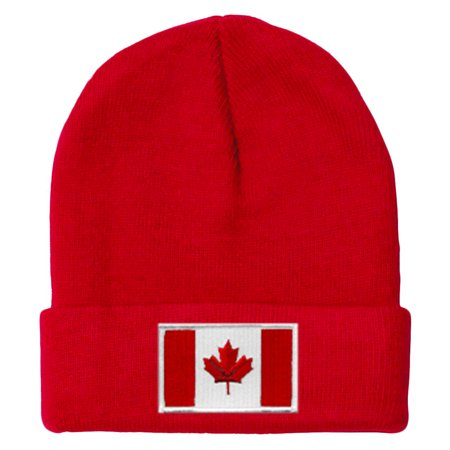 Canada MyCountry Solid Knit Hat (Red) - IceJerseys - image 1 de 1