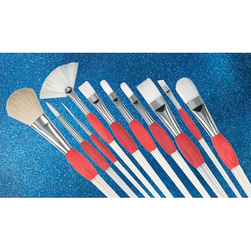 Princeton Artist Brush Synthetic Fan Brush (Set of 3)
