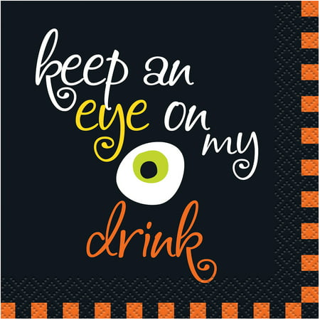 Keep an Eye on My Drink Halloween Beverage Napkins, 16ct (Cute Halloween Drink Names)