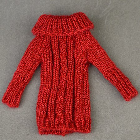 4131e666e 30cm Fashion Knitted Handmade Sweater Clothing for Dolls Style:red
